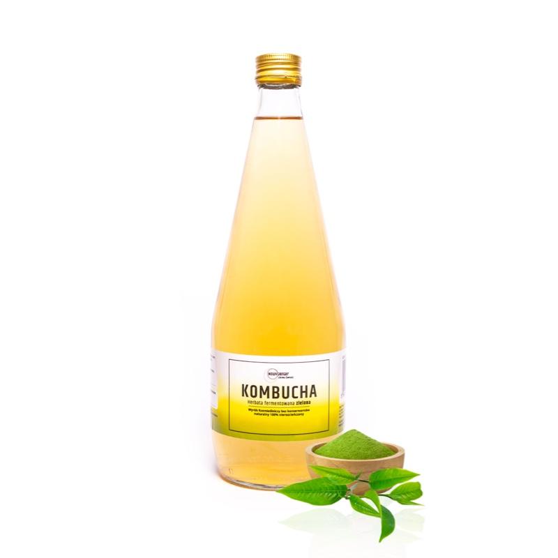 Kombucha Zielona Herbata – Antyoksydant, Oczyszczanie 700 ml